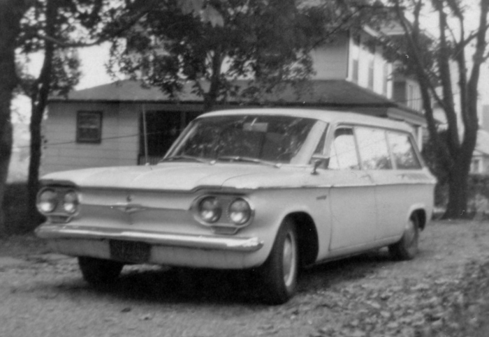 The family Corvair from the front.