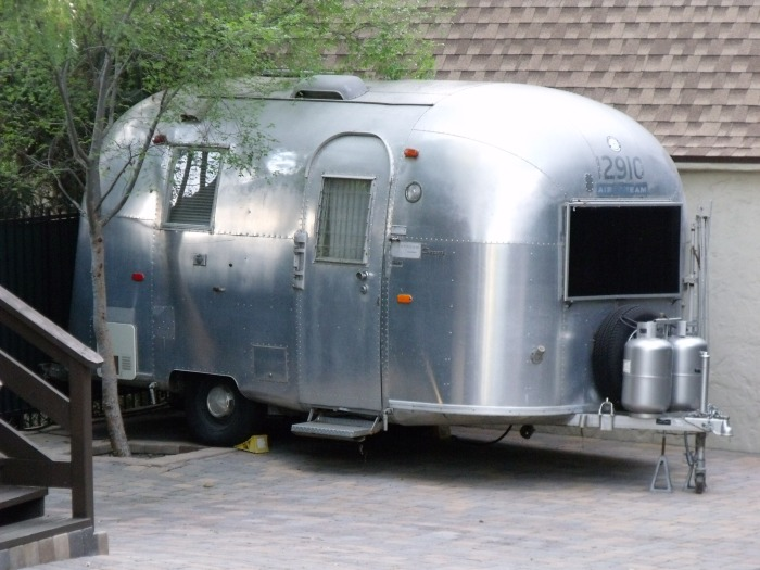Airstream trailer in West Hollywood, CA