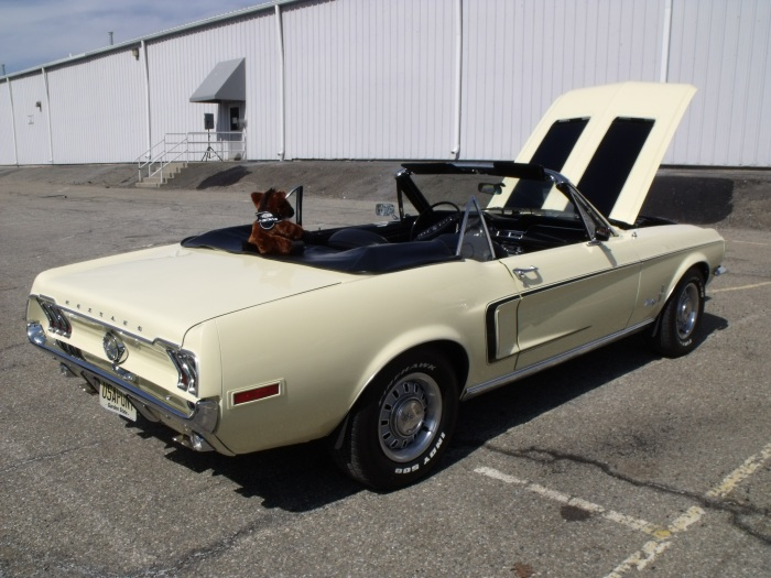 1968 Ford Mustang convertible.