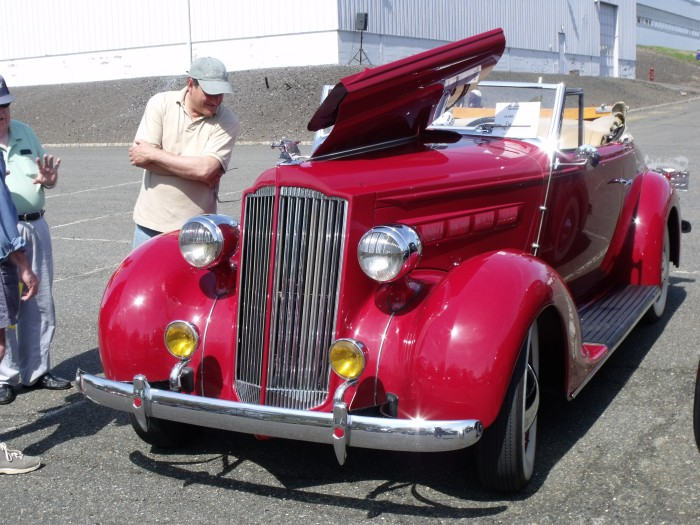 A 1937 Packard convertible (owned by my friend Ron Novrit).