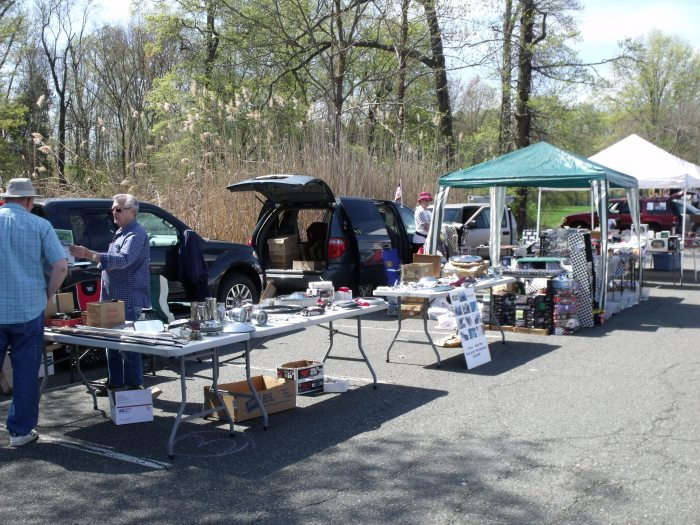 Flea market vendors lined the perimeter of the show field.