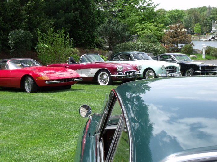 Ferrari, Corvette, and French Ford.