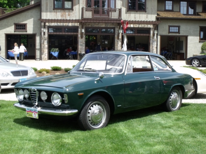 The Alfa in front of Scheffler's garage.