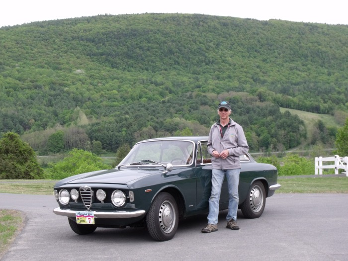 Steve with the Alfa somewhere in the Catskills.