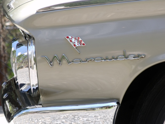 "In 1963, before mid-sized cars took over the muscle-car spotlight, this flag helped identify the Marauder as a ""performance"" car."