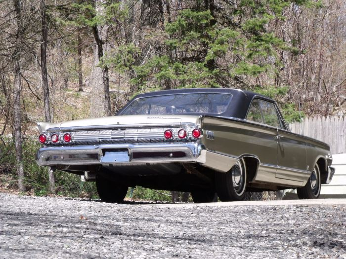 The 1963 Mercury Marauder basking in May's afternoon sunshine.