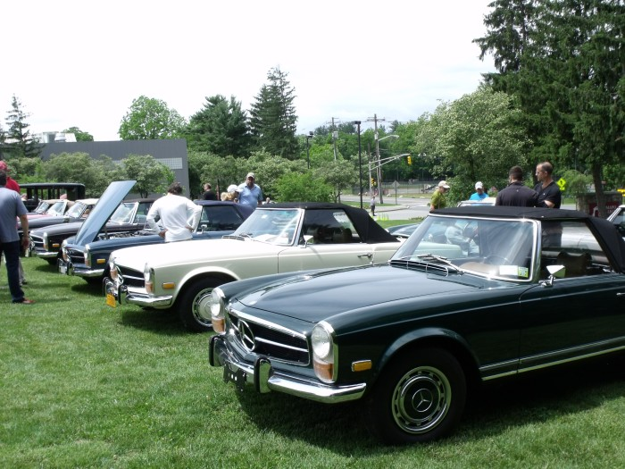 It's June, so Pagoda tops are home in favor of soft tops.