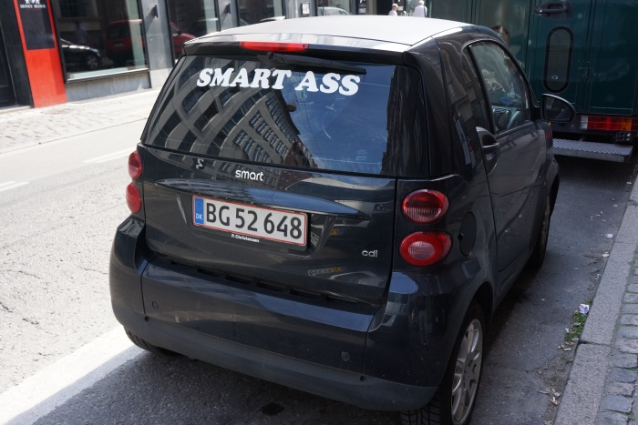 What do you call the rear end of a Smart?