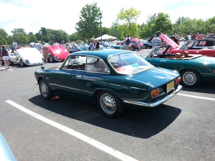 The only Giulia coupe at this year's show, and a step-nose to boot