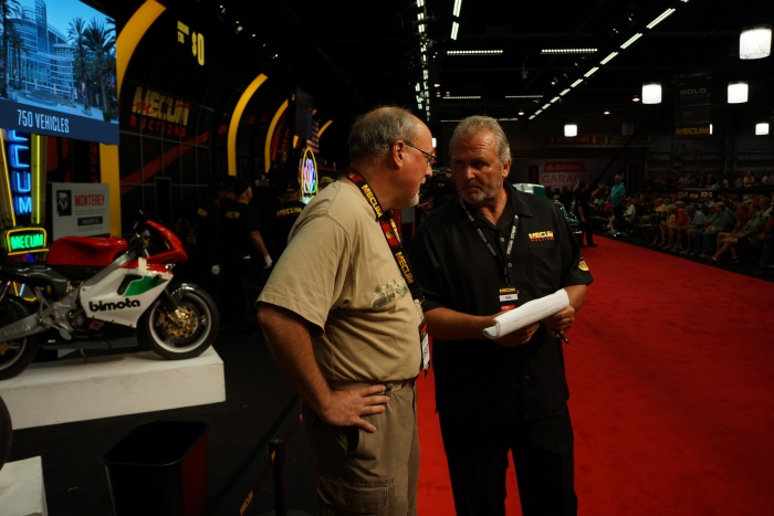 Mecum Man talks to the owner