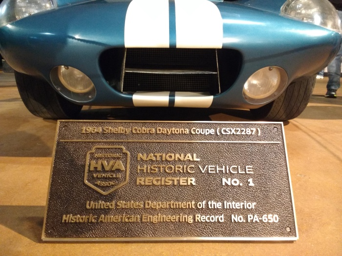The car and the HVA plaque