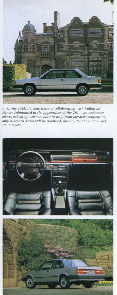 The Volvo 780. From the author's collection.