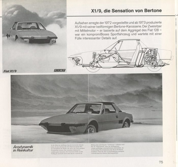 The Fiat/Bertone X1/9. From the author's collection.