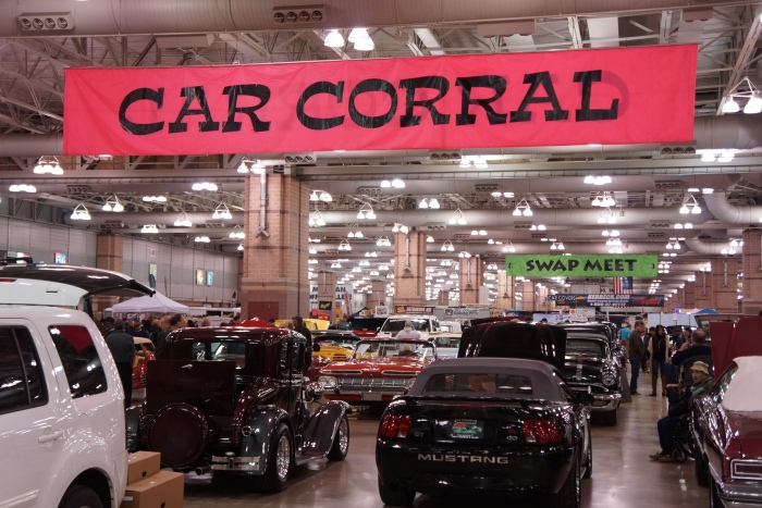 The car corral again included plenty of dealers showing new and classic iron.