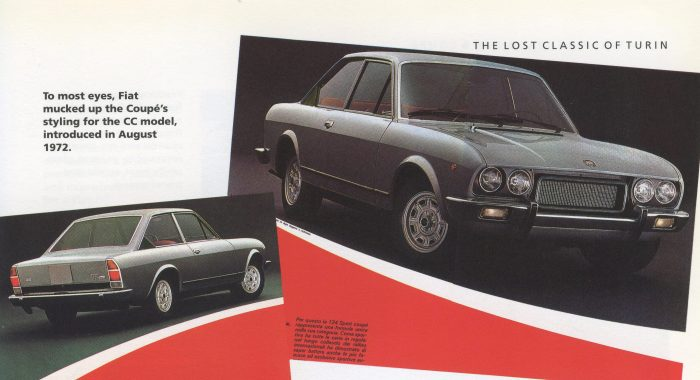The 124 Coupe CC model; the book agrees that it's not the most attractive version