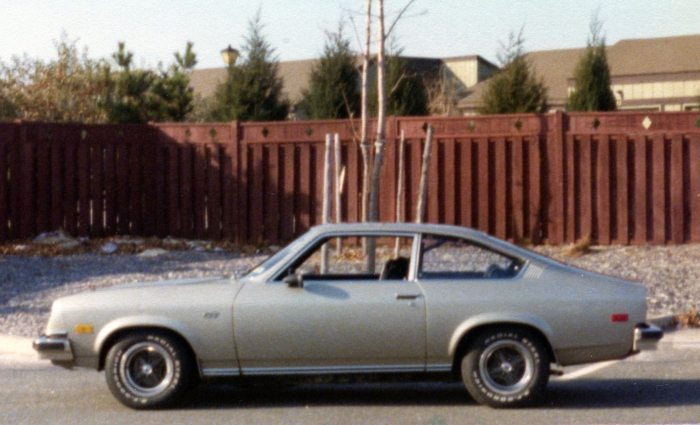 Side view of my '74 Vega GT, taken autumn of 1976
