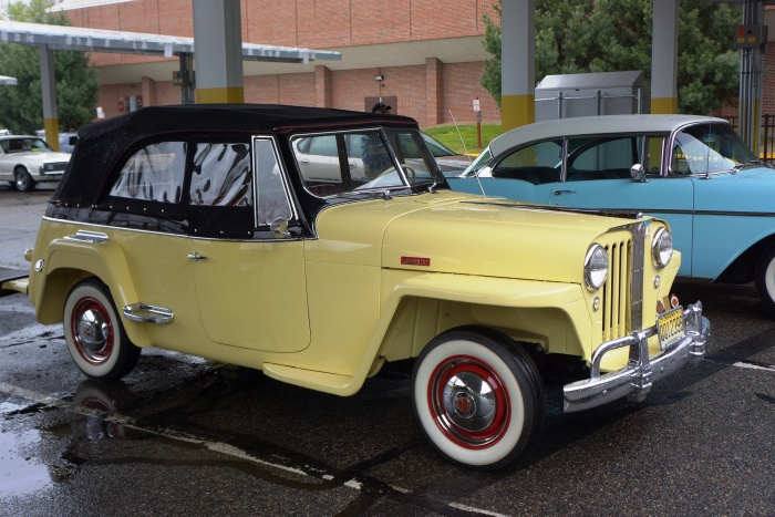 This immaculate Jeepster was driven to and from the show