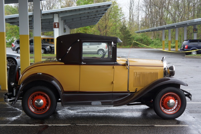 This '30 Model A was one of the very few pre-war cars out to brave the elements