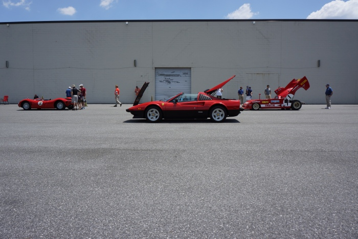 Red Italian cars rule