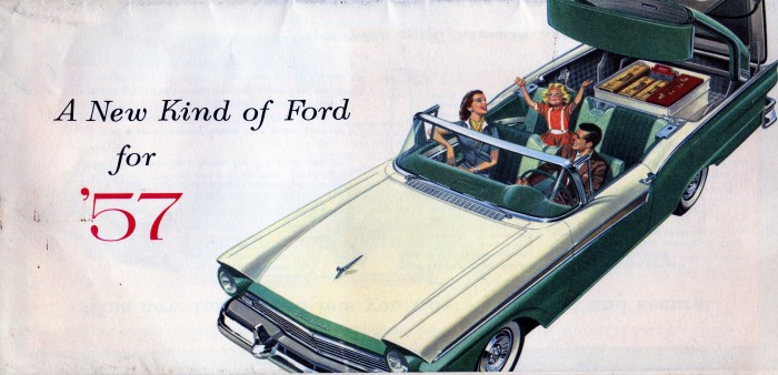 The Ford brochure for '57 featured the Skyliner on the cover (from the author's collection)