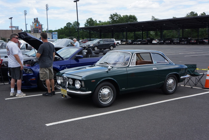 The author's 1967 Alfa Romeo was the only non-American car in the show.