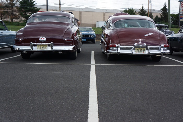 The styling similarity between the '50 Merc and the '52 Hornet is obvious from the rear.