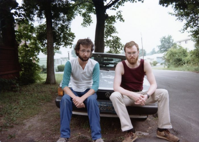 That's me on the left, visiting college roommate Eric, Summer '84.