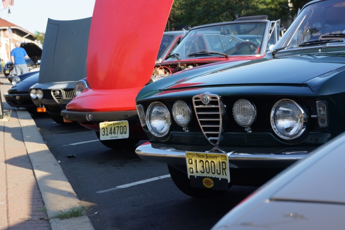 The Alfas proudly line up for their show
