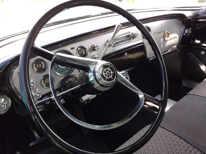 Steering wheel feels 3 feet wide - it just that modern wheels are so much smaller