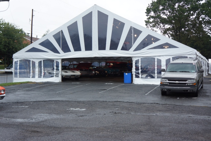 A tent! Welcome to the big leagues, Carlisle.
