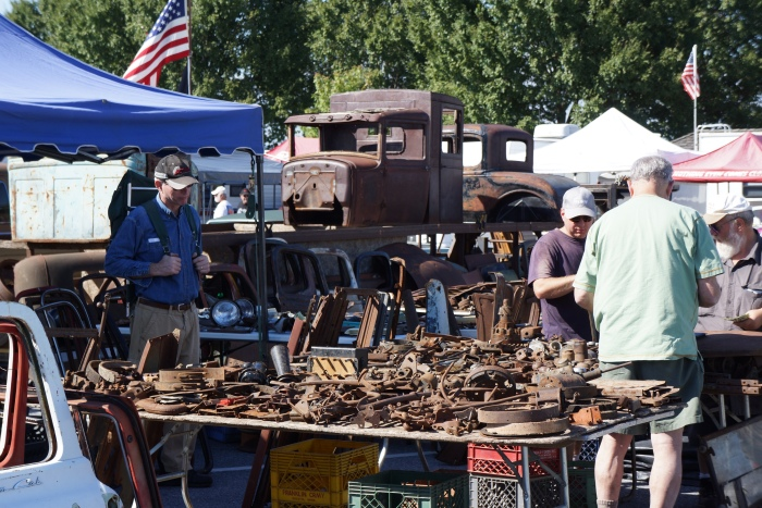 Flea market parts hunting the old-fashioned way
