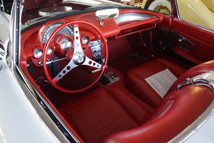 Interior freshly restored, looks never sat in