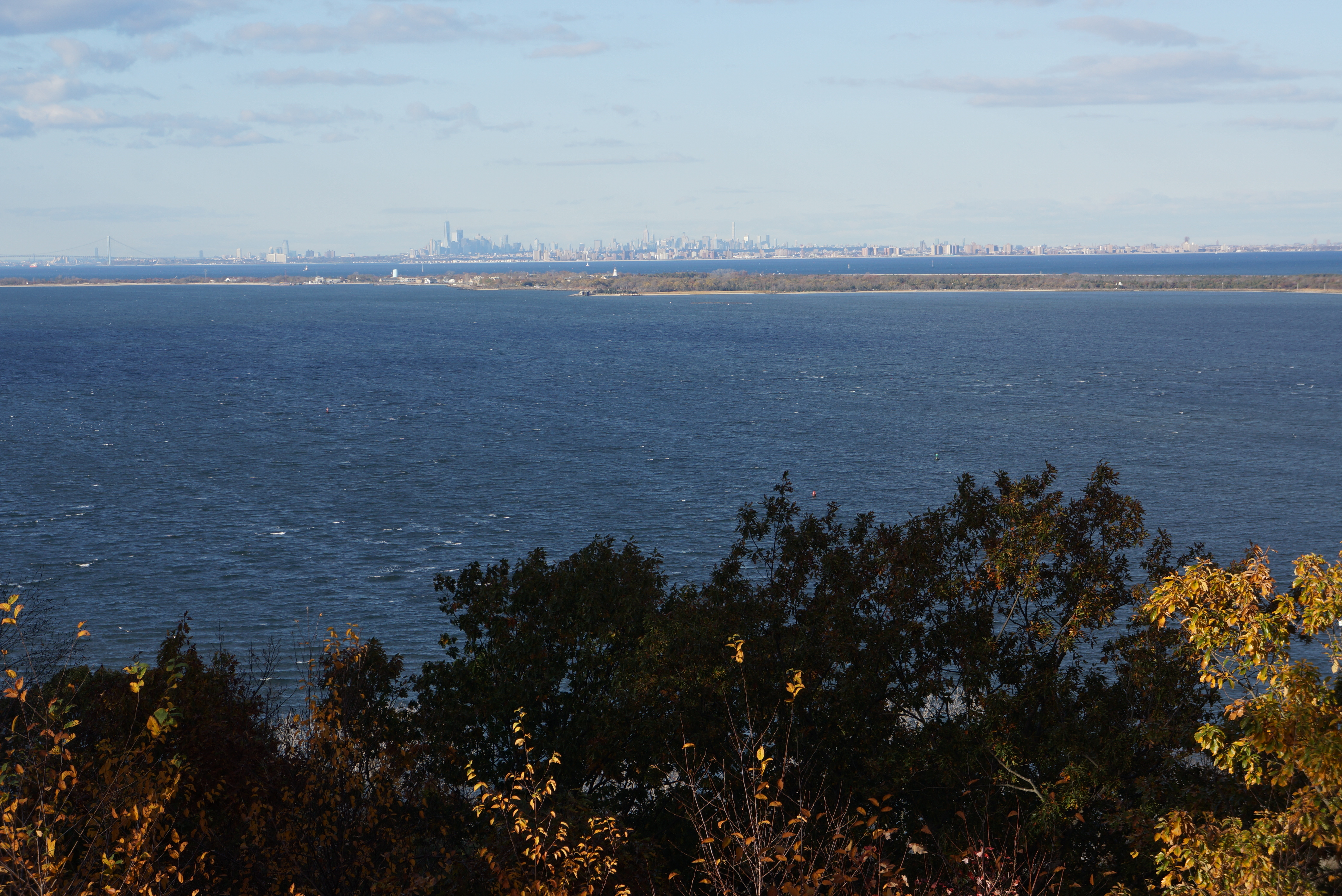 The tremendous view from the Mount Mitchill Overlook