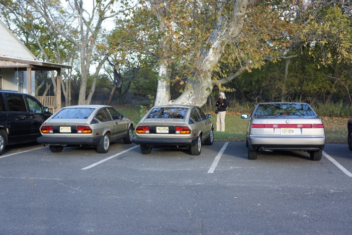 The six-cylinder cars hang out together