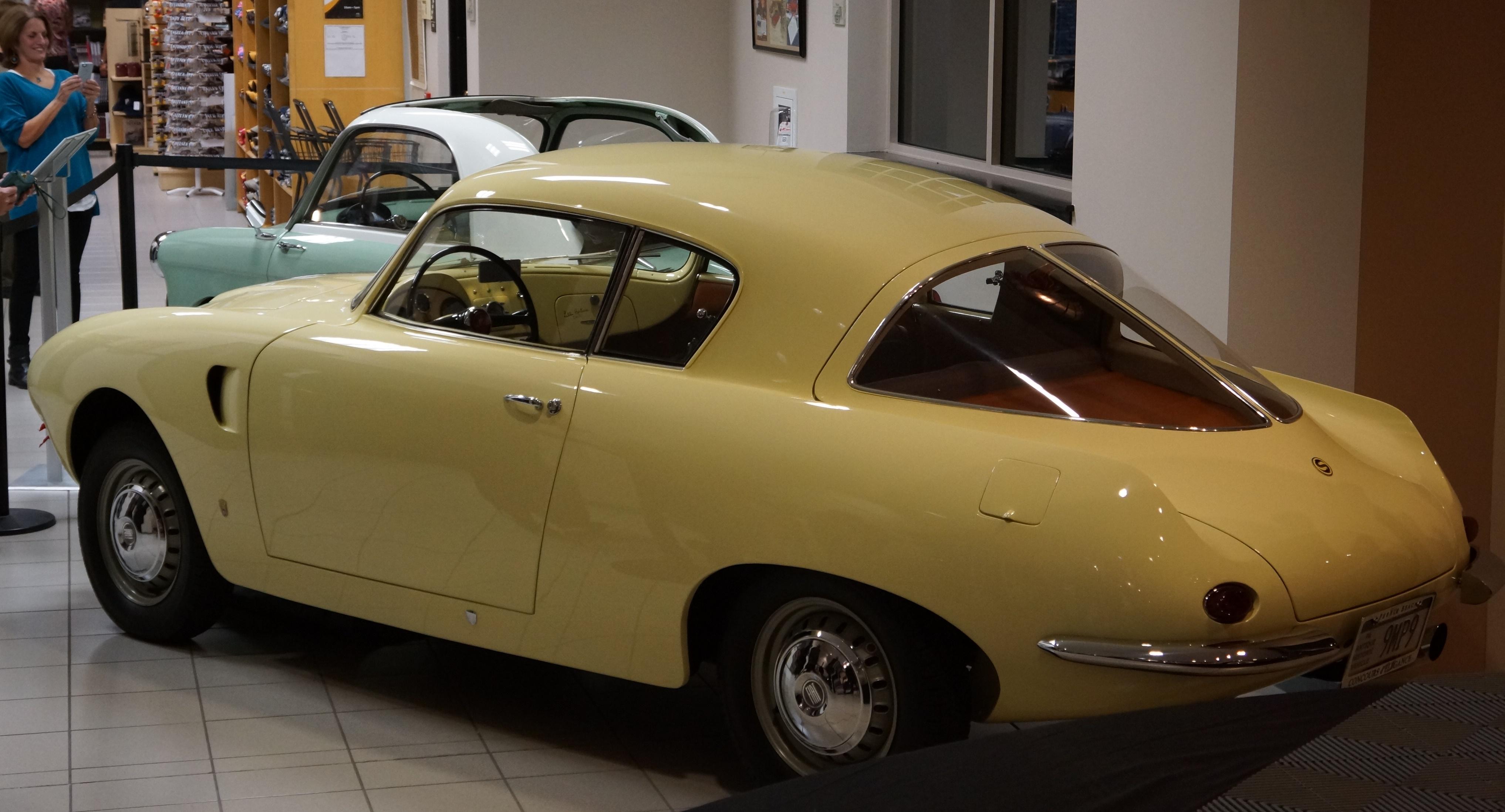 This 1954 Fiat 1100 wears custom sheetmetal reminiscent of the Alfa BAT cars