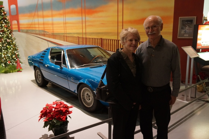 Owners Ed and Shayna Geller with their stunning Alfa Montreal