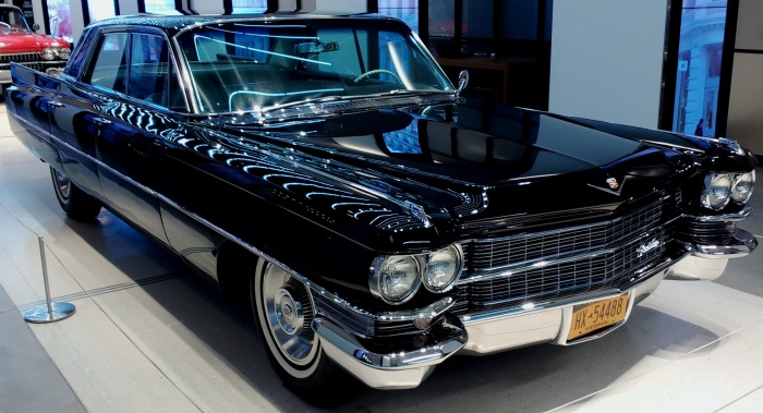 1963 Cadillac, in black, natch