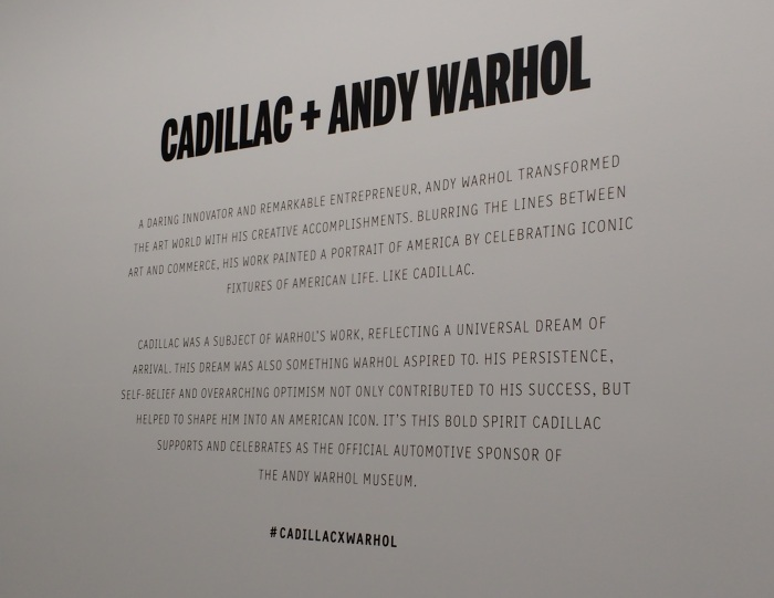 Cadillac + Andy Warhol - who knew?