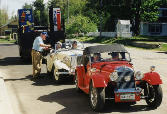 A Morgan Plus 4 followed by an MG-TD