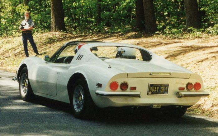 License plate reveals one way to get your Dino 246 GTS