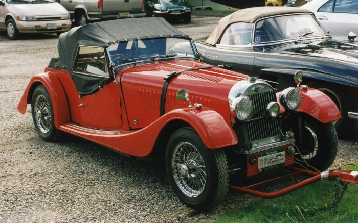 Morgan Plus 4, which we presume was flat-towed to the rally