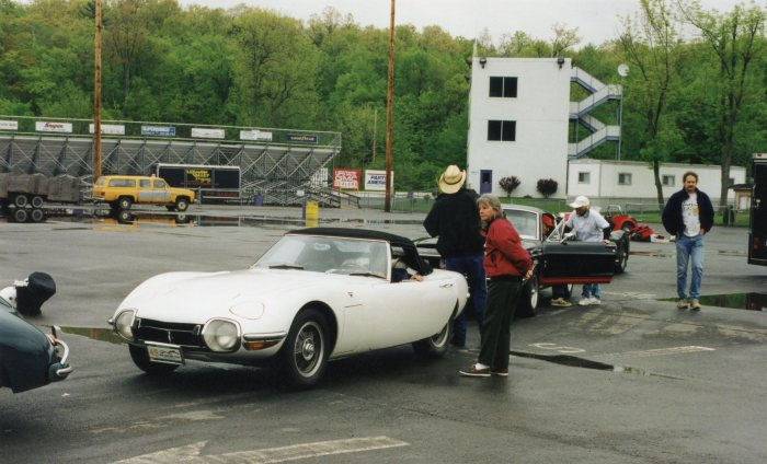 The Toyota 2000GT at one of the timed trials