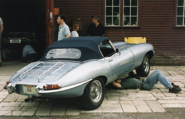 RPM was a convenient place for the Goolsbee E-Type to need some mechanical attention