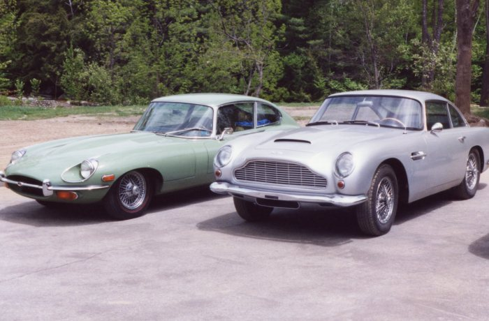 The best of Britain: Jaguar E-Type and Aston Martin DB-6