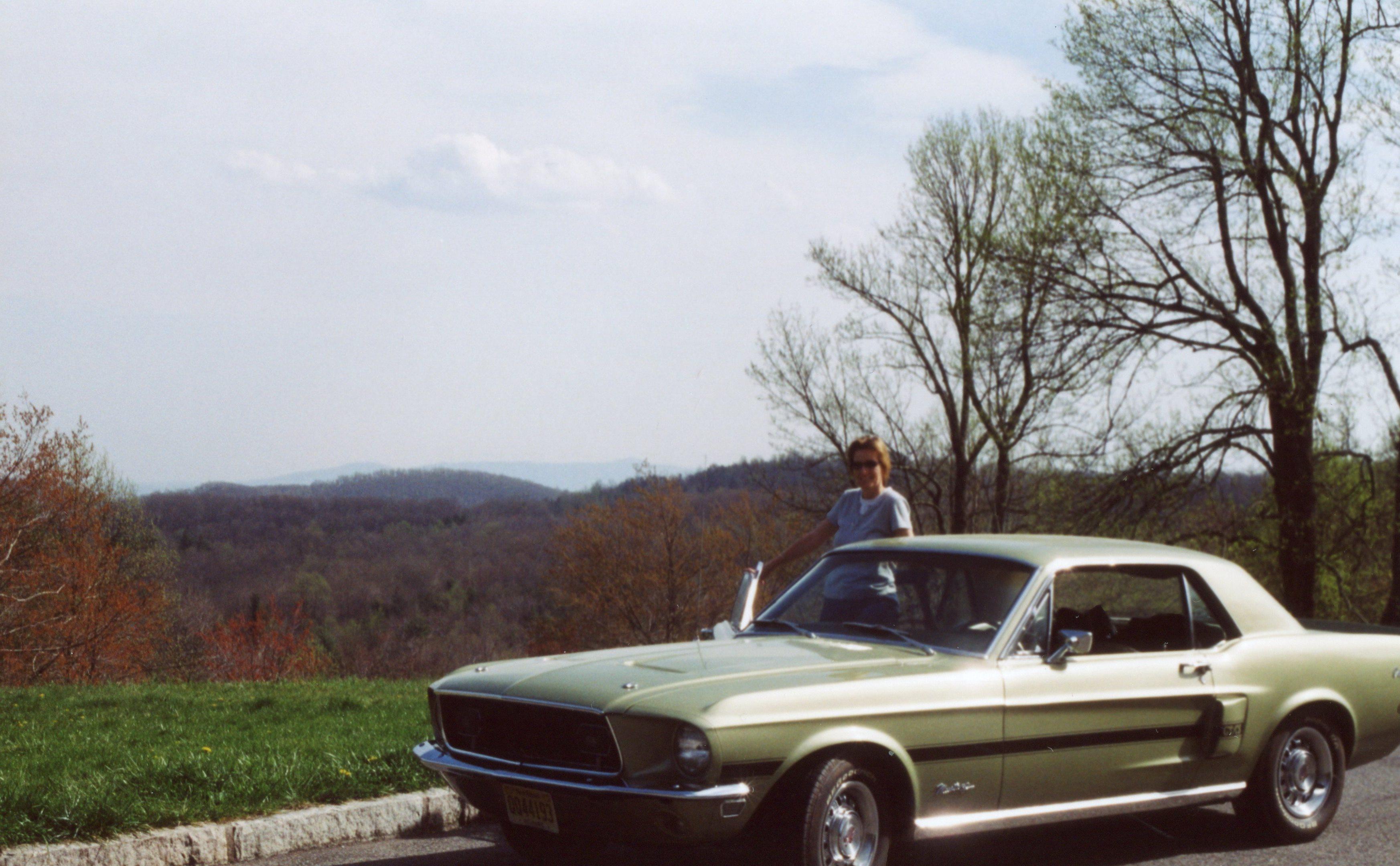 My wife takes in the beautiful Virginia scenery
