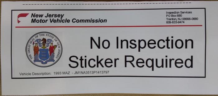 Nj state inspection richardscarblog for Motor vehicle inspection station nj