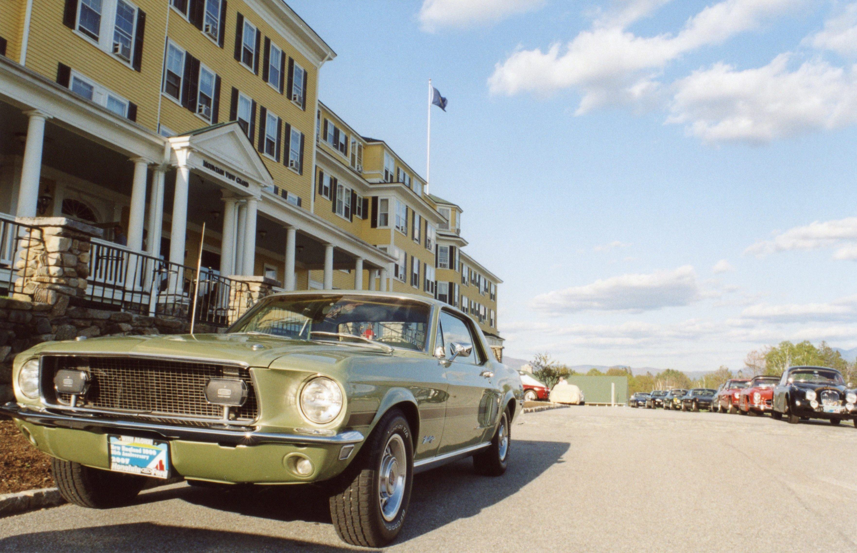 My Mustang In Front Of The Mountain View Grand Resort